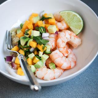 Shrimp and Quinoa With Mango-Avocado Salsa