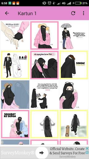 99+ Gambar Kartun Muslimah Remaja Gratis Terbaik