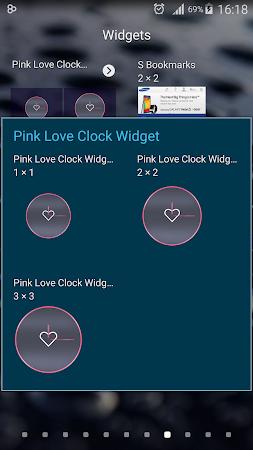 Pink Love Clock Widget 5.5.1 screenshot 1568927