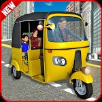 Modern Auto Tuk Tuk Rickshaw Icon