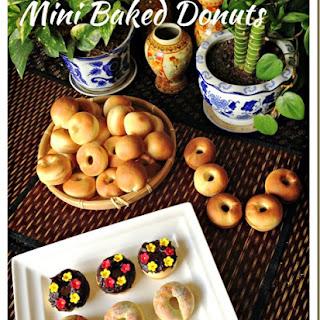 Baked Is Healthier… Isn't It? Mini Baked Donuts (迷你甜甜圈-烘烤版本).