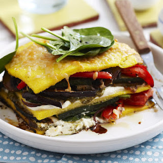 Roast Vegetable Stacks with Pesto