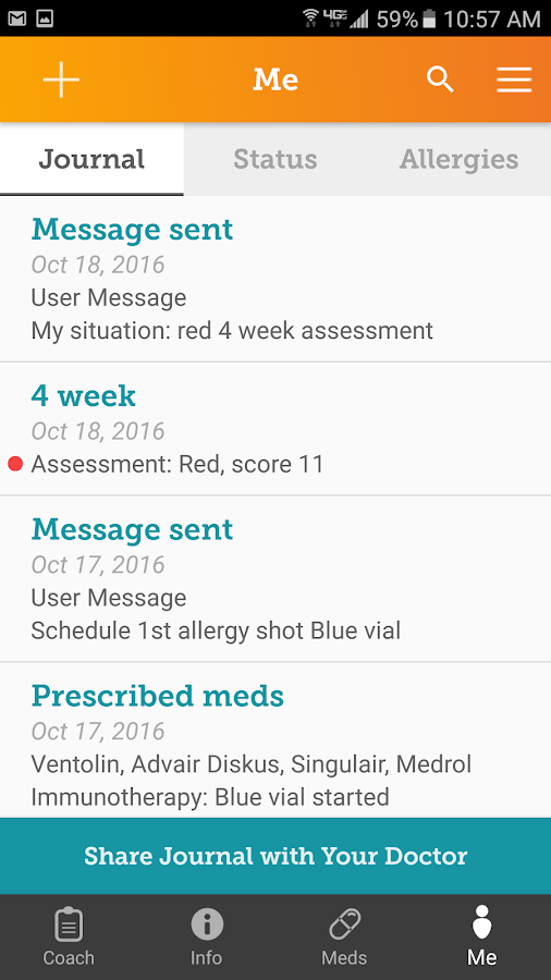 Allergy Partners APpal- screenshot