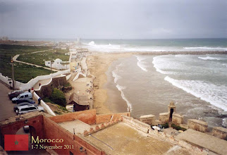 Photo: view of the Atlantic from the top of the Kasbah