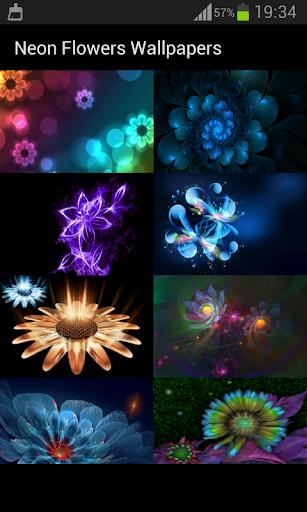 霓虹花朵壁紙