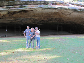 Photo: Dasovich and his students - the first excavations at the famous Graham Cave, Missouri.  No work has been done there in over 50 years.  Summer 2010.