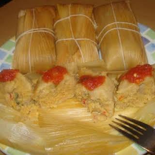 Cuban Tamales Made With Fresh Corn, Tamales Cubanos De Maiz Criollo Tierno.