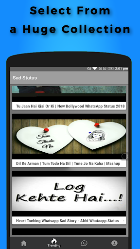 Sad Video Status for Whatsapp 9.0 screenshots 1