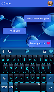 Blue Science Keyboard Theme - náhled