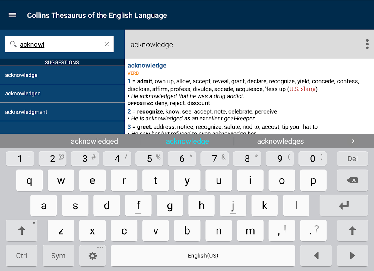 Collins Thesaurus English  Android Apps on Google Play