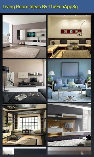 室內設計 - 客廳裝飾概念。