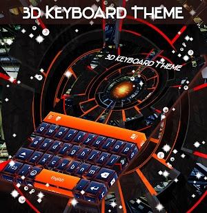 Téma 3D klávesnice - náhled