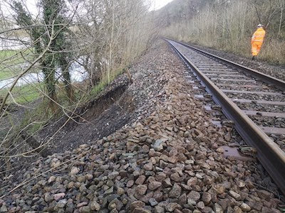Landslide repairs will disrupt rail services this weekend