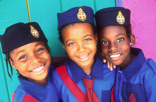 Local-Girls-in-Uniform-British-Virgin-Islands.jpg - Local girls in school uniforms in the British Virgin Islands.