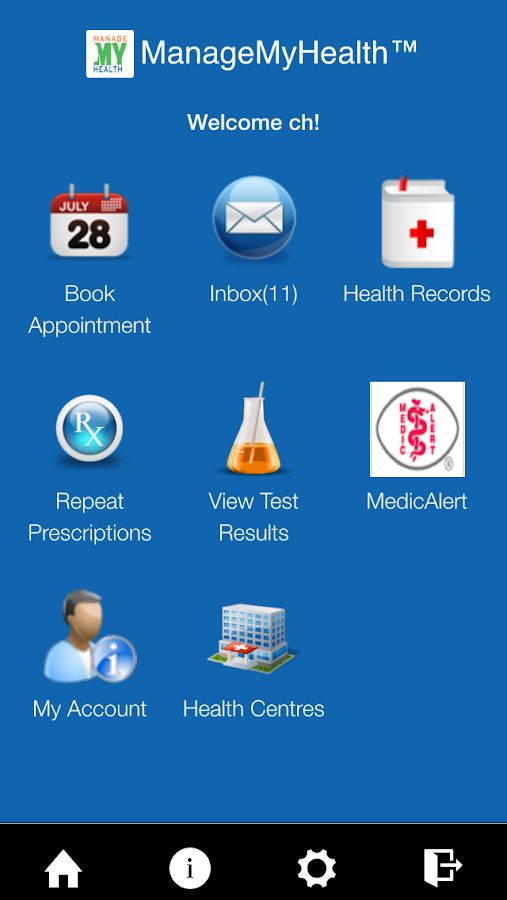 ManageMyHealth- screenshot