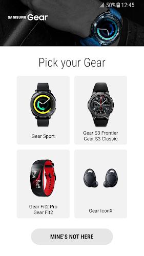 Samsung Gear Android App Screenshot