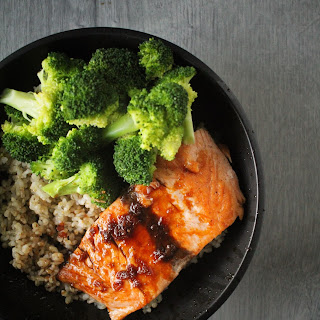 Salmon and Broccoli Bowls with Citrus-Shoyu Glaze