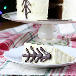 Gingerbread Cake with Maple Cream Cheese Frosting.