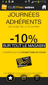 Carte FNAC Suisse screenshot 0