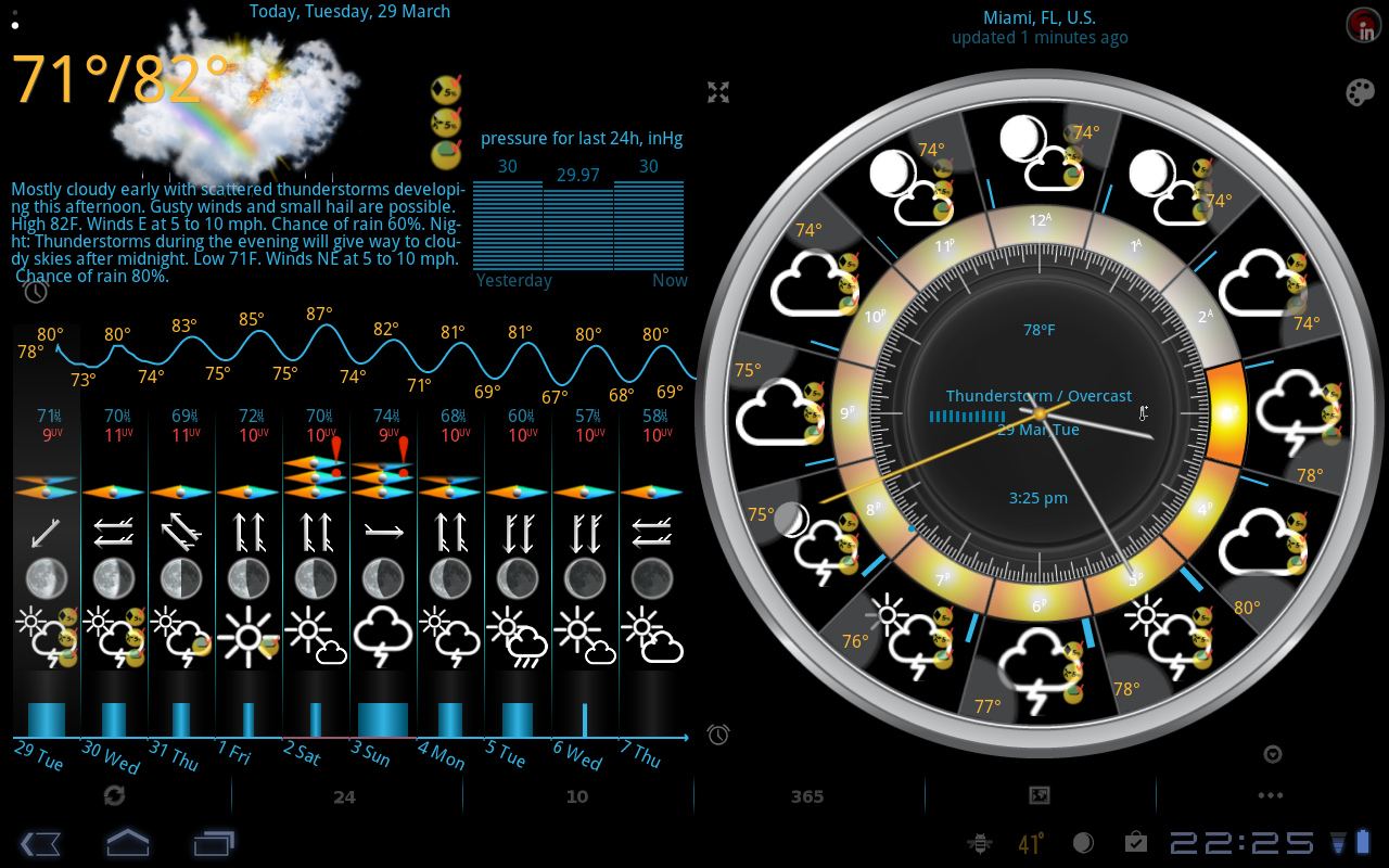 eWeather HD with Weather Radar- screenshot