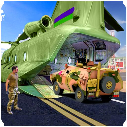 Offroad Army Transport Cargo Plane Simulator