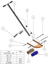Photo: 3D Diagram with part of an SRI Rotary Weeder (from ECHO Asia Notes Issue 21)