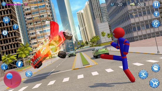 Stickman Spider Crime City Rope Hero Apk Download