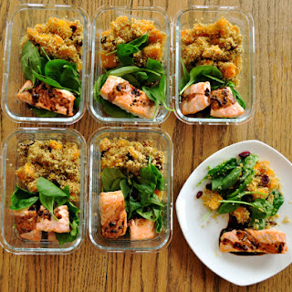 Balsamic Glazed Salmon with Quinoa and Butternut Squash