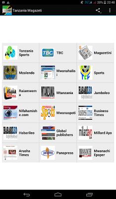 Tanzania Magazetini - screenshot