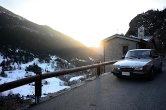Photo: CySaab en Andorre après une belle journée d'hiver.
