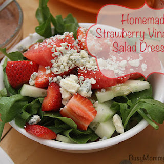 Homemade Strawberry Vinaigrette Salad Dressing