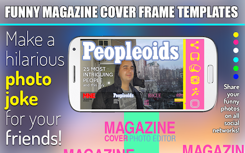 Magazine Cover Photo Editor screenshot