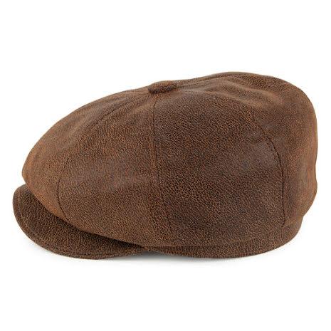 Jaxon Läderkeps,  brun