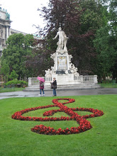 Photo: The famous statute of Mozart.