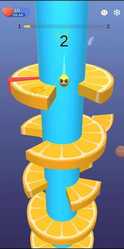 Imágenes de Orange Ball Helix Jump 4