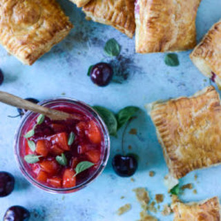 Goat Cheese and Cherry Peach Chutney Puff Pastry Poptarts.