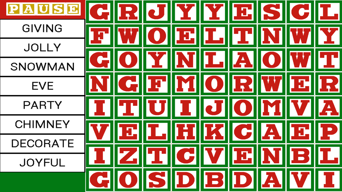 Word Owl's Word Search - Christmas Holiday Find- screenshot