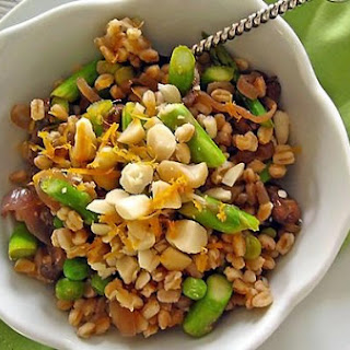 Meyer Lemon Scented Farro and Asparagus Salad