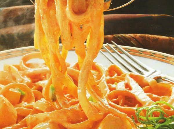 Roasted Red Pepper & Scallop Fettuccine Recipe