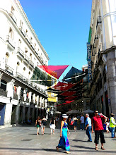 Photo: Calle Carmen off of Puenta del Sol.  We liked the sun shade all the way down the pedestrian road.  Madrid.
