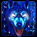 3D Neon Wolf Keyboard Theme APK