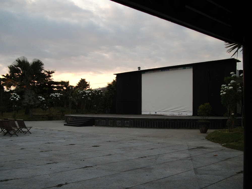A stage for entertain visitors in Hallo Surabaya