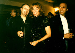 Photo: The two Allans w/ Charmaine @ Stanley Fort 1996. The incredible salsa master 'Kakusan' is spotted in the background.