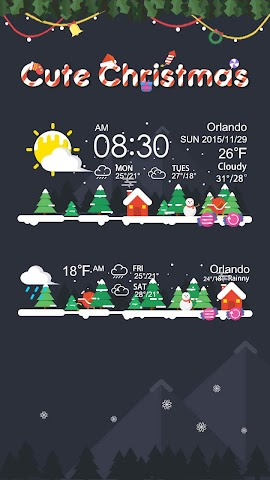 android Christmas Weather Widget Theme Screenshot 1