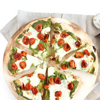 Rosemary-Roasted Tomato Pesto Pizza.