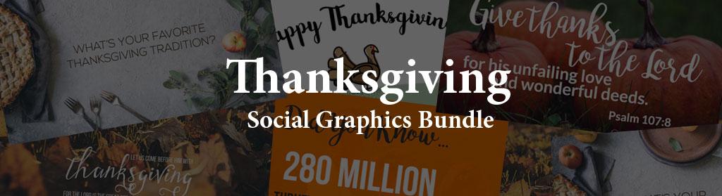 Thanksgiving Social Graphics Bundle