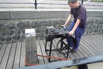 Photo: Jaysail 2009 De veldsmidse wordt aan de gang getrapt door Dennis