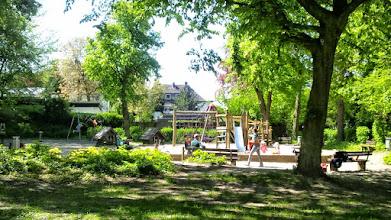 Photo: Der Kinderspielplatz im Stadtgarten.