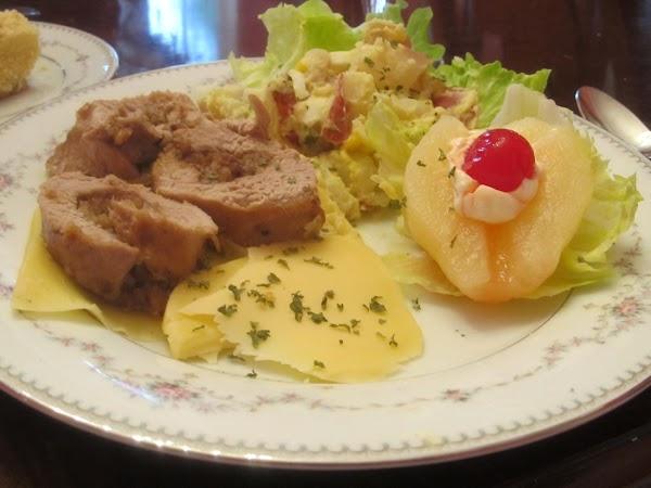 Jamie's Grilled Chutney Stuffed Porkloin Recipe