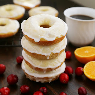 Glazed Cranberry Orange Donuts Recipe